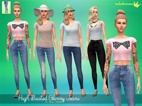 sims 4 high waisted jeans my sims 4 blog high waisted skinny jeans by inabadromance