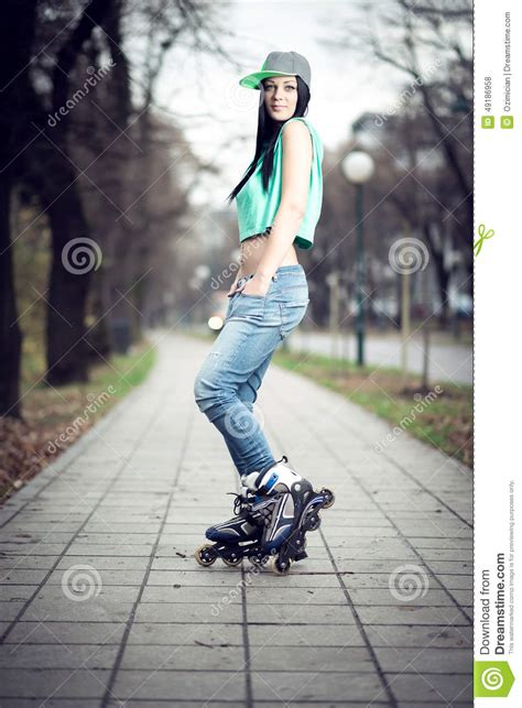 roller skating winter garden roller skating in park stock photo image 49186958