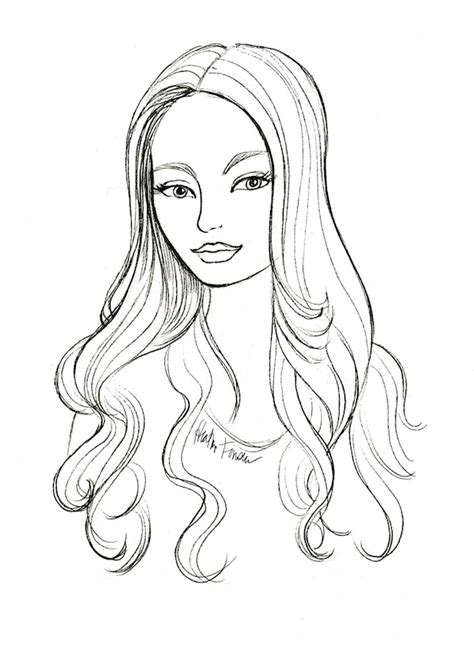 hairstyle sketches from lucky fabb