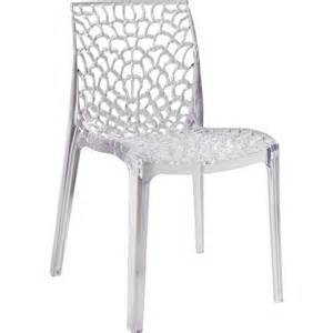 chaise de jardin en polycarbonate grafik transparent