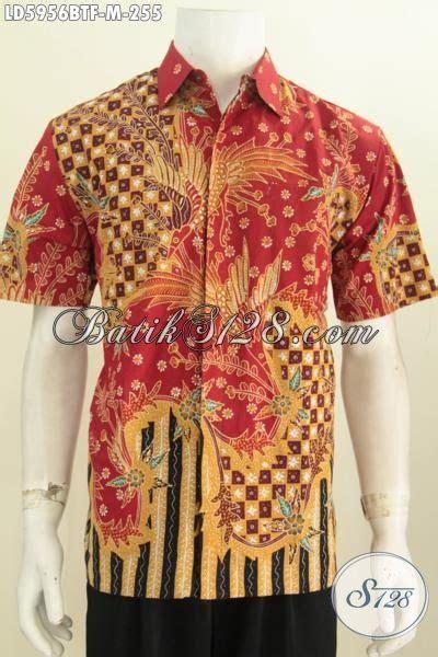 Kemeja Kombinasi Tulis Furing Ukuran M Kemeja Lengan Pendek Kombinasi Tulis Hem Batik Elegan