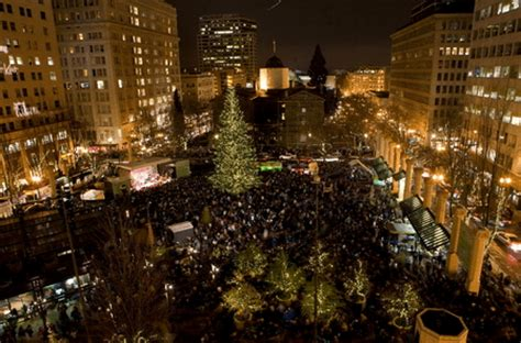 christmas tree lighting downtown portland or portland condos trees portland condos