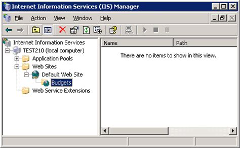how to configure virtual host in xp using webdav with iis