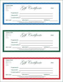 Free Gift Certificate Templates by Free Gift Certificate Template And Tracking Log