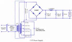 cvt constant voltage transformer working circuit diagram application