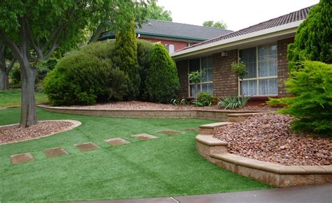 Garden Landscaping Ideas Low Maintenance Front Lawn Ideas Studio Design Gallery Best Design