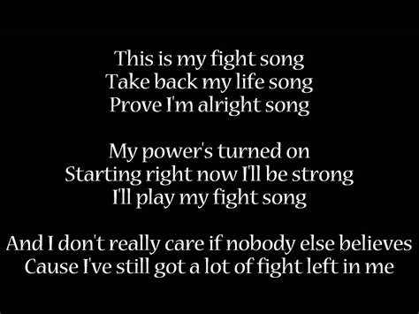 song with lyrics fight song platten lyrics