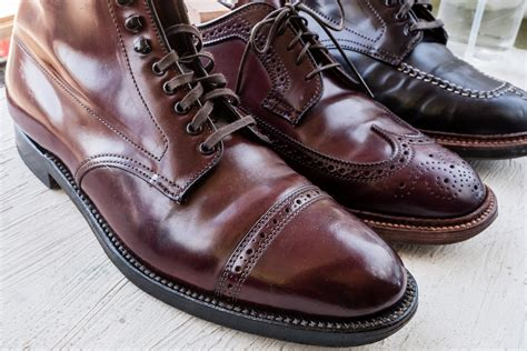what color is cordovan alden color 8 shell cordovan patina and aging aun three