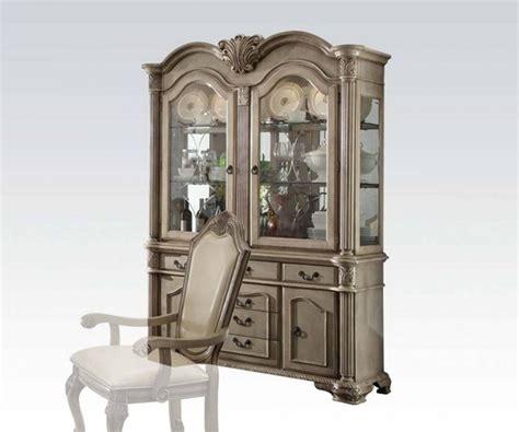 Antique White Buffet And Hutch Acme Furniture Chateau De Ville Antique White Hutch And