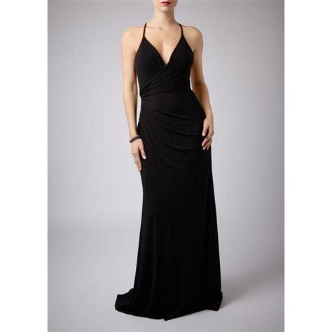 La Robe Black Lash Dress Mascara - mascara pour la femme halter gown at cargo clothing
