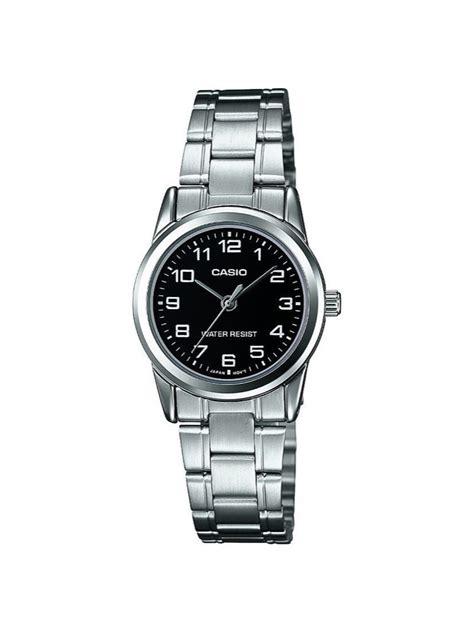 casio vintage piccolo casio orologio polso donna ltp v001d 1b acciaio nero tondo