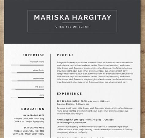 5 Cv Resume Indesign Templates by 75 Best Free Resume Templates For 2018 Updated