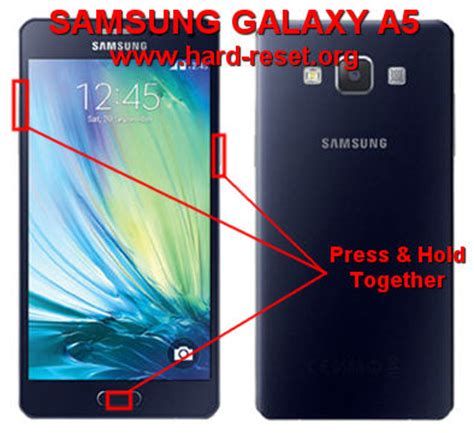 reset samsung a3 button how to easily master format samsung galaxy a5 a500f