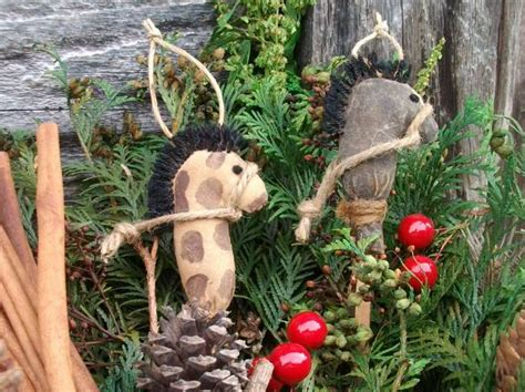 primitive grungy stick horse christmas ornaments on luulla