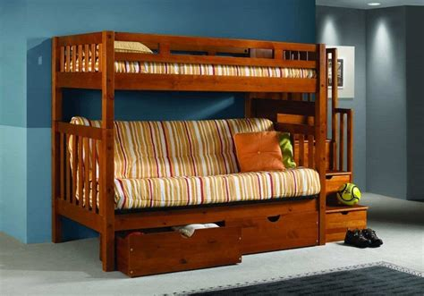 futon bunk beds futon bunk bed with stairs