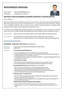Resume Sles For Banking Professionals Government Resume In Banks Sales Banking Lewesmr