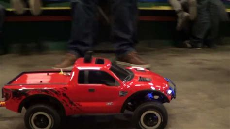 traxxas slash boat trailer traxxas ford f 150 raptor with rc boat and trailer youtube