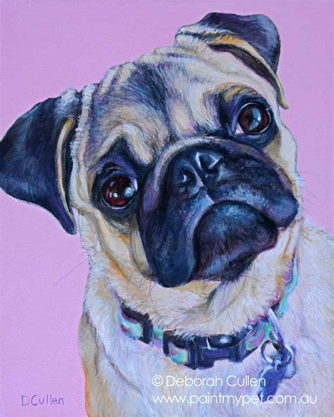 pug paint home paintmypet pet portraits perth