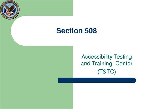 section 508 compliance certification ppt department of veterans affairs section 508 program