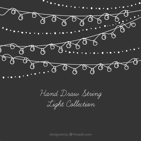 floral string lights collection of string lights vector free