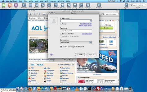 the new aol desktop for mac aim browser mail