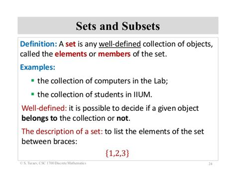 A Setter Definition | introduction fundamentals sets and sequences