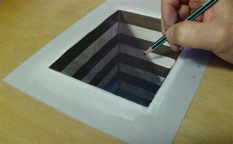 How To Make 3d On Paper - how to draw 3d for easy anamorphic illusion