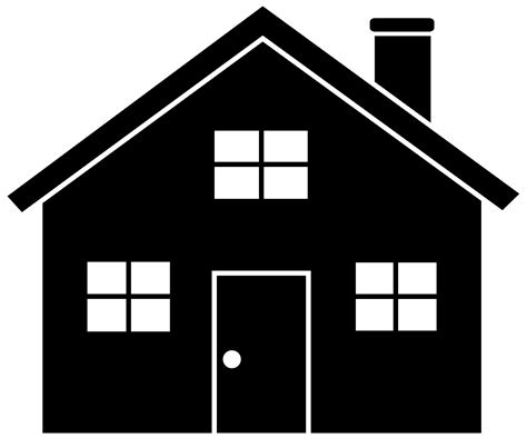 black and white home house clip art free black and white free clipart clipartix