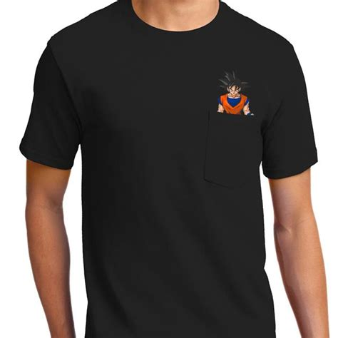 Goku Tees casual goku pocket t shirt apparel textual tees