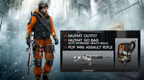 Play Set Tom S tom clancy s the division hazmat gear set uplay cd key