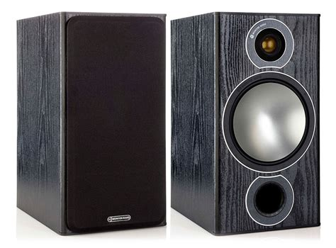 monitor audio bronze 2 black oak bookshelf speakers pair