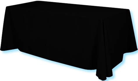 70 quot x 154 quot plain 3 sided trade show table cover table