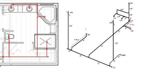 typical bathroom plumbing diagram 8 best images of bathroom drainage diagram toilet vent