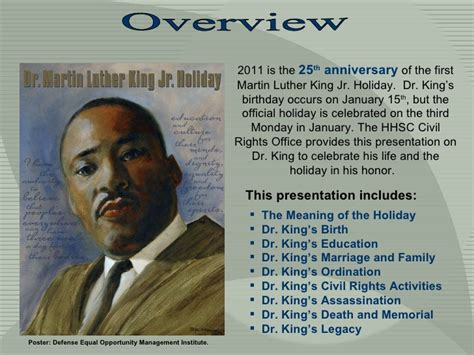 The Meaning Of The Holiday Martin Luther King Presentation