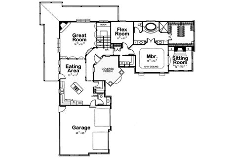 floor plan l shaped house duane ranch home plan 026d 0929 house plans and more