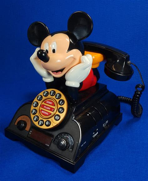 sold vintage mickey mouse talking alarm clock radio telephone bag the web
