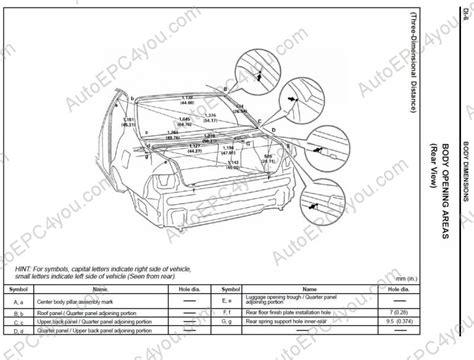 Lexus Body Dimensions Repair Manual Order Amp Download
