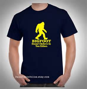 Unisex Gifts Bigfoot T Shirt Funny Amp Unique Tshirt By Daisychainonline