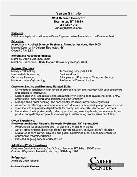 sle resume objectives for entry level customer service entry level customer service resume resume template