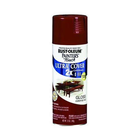 rust oleum ultra cover 2x spray paint gloss colonial