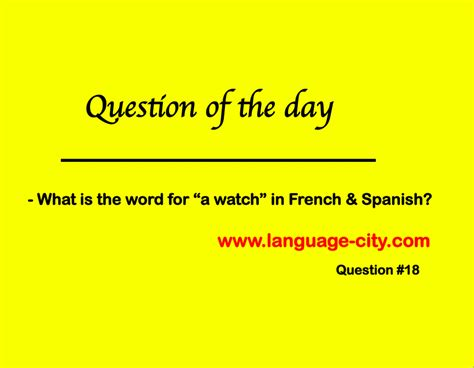 lesson question of the day 18 language citylanguage city