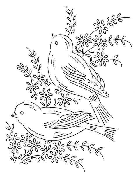 25 Best Ideas About Vintage Embroidery Patterns On Pinterest Vintage Embroidery Embroidery Bird Design Templates