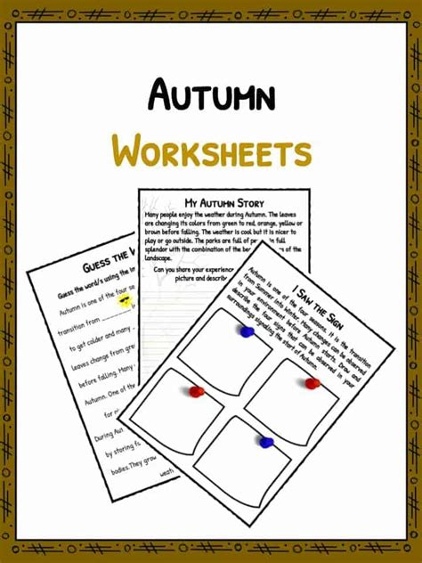 autumn facts information worksheets  lesson study material
