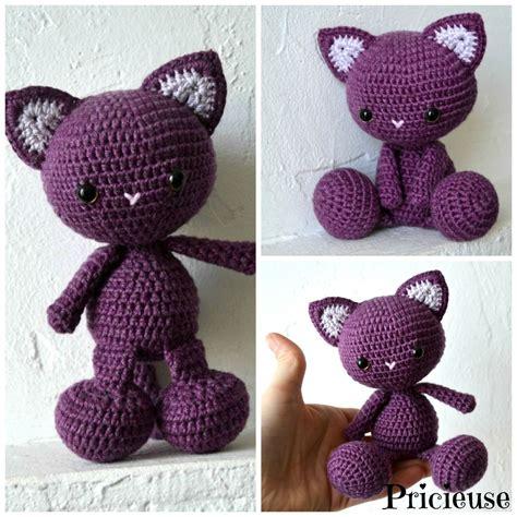 Amigurumi Chat Modele Gratuit amigurumi doudou chat au crochet prune diy crochet