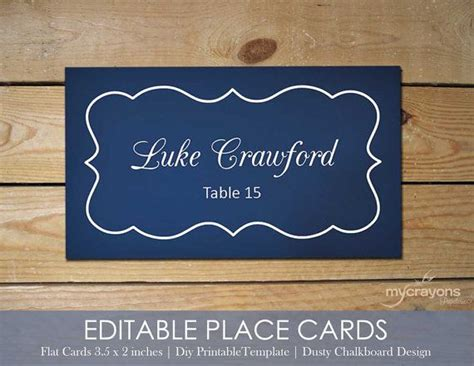 Editable Place Card Template by 1000 Ideas About Printable Wedding Place Cards On