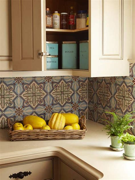 Moroccan Tile Kitchen Backsplash Moroccan Tiles Backsplash Mediterranean Kitchen Bhg
