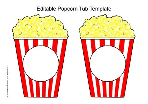 popcorn template editable popcorn tub templates sb11152 sparklebox