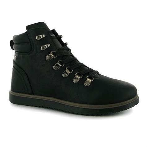 Dc Mens Lennox S firetrap mens lennox boot laced fitted tongue padded ankle