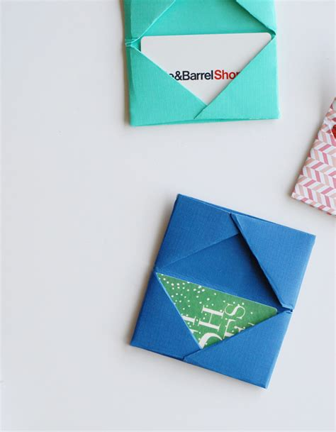 How To Wrap A Gift Card - homemade gift card holders free paper crafts tutorial