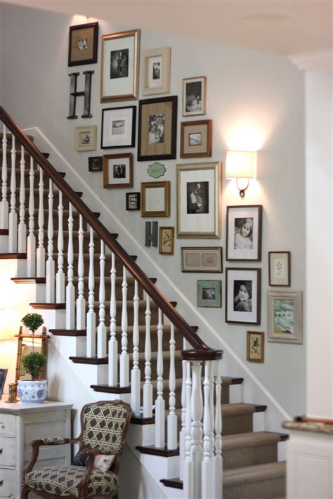 Staircase Wall Decor | decorating a staircase ideas inspiration tidbits twine